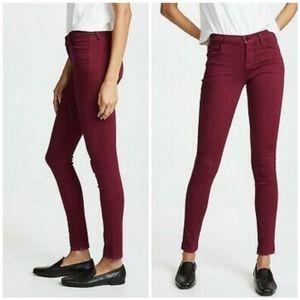 J Brand 620 Mid Rise Super Skinny Jeans Deep Plum